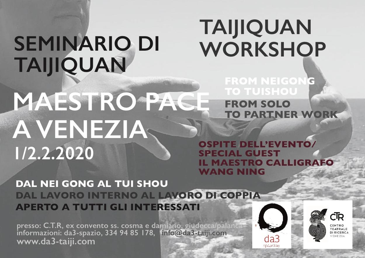workshop maestro pace a venezia: 2-3.2.20.ospite speciale dell'evento il maestro calligrafo e incisore wang ning
